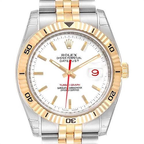 Photo of Rolex Datejust Turnograph Steel Yellow Gold Mens Watch 116263 Unworn