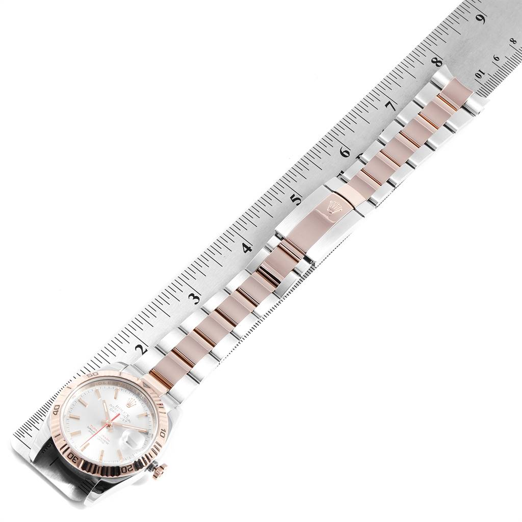 Rolex Turnograph Datejust Steel EveRose Gold Watch 116261 Box Papers SwissWatchExpo