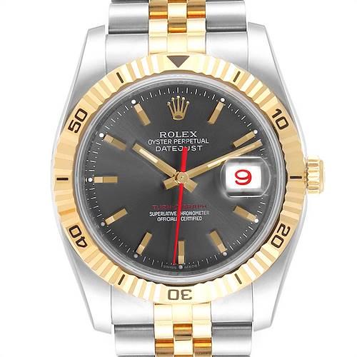 Photo of Rolex Turnograph Datejust Steel Yellow Gold Mens Watch 116263 Unworn