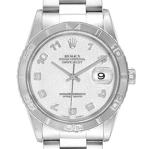Photo of Rolex Turnograph Datejust Steel White Gold Oyster Bracelet Watch 16264