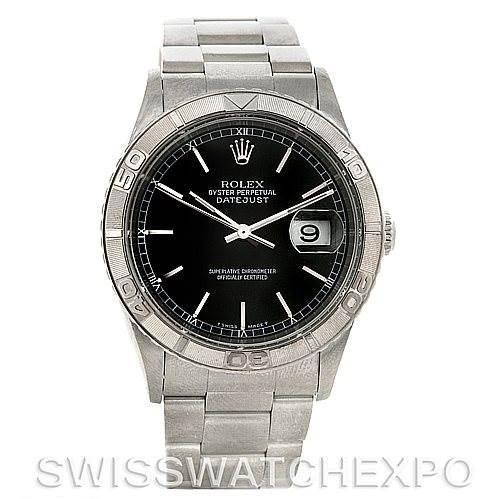 4294 Rolex Turnograph Steel and 18k White Gold Watch 16264 SwissWatchExpo