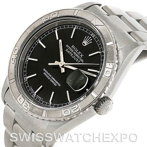 4294 Rolex Turnograph Steel and 18k White Gold Watch 16264 SwissWatchExpo