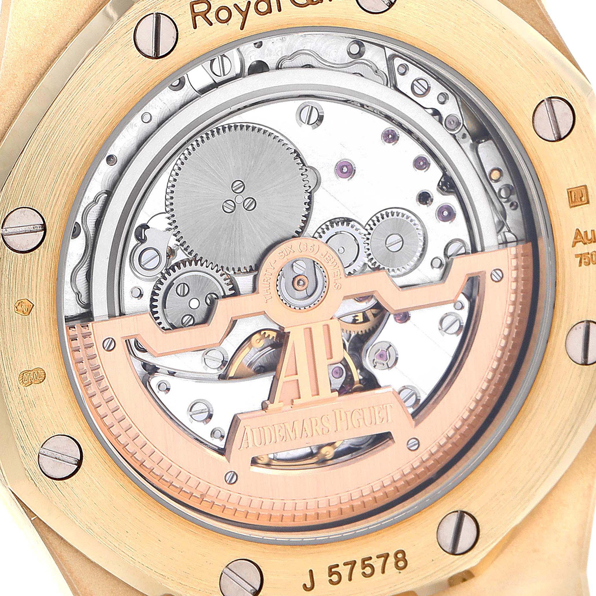 Audemars Piguet Royal Oak Yellow Gold Mens Watch 15202BA Box Papers SwissWatchExpo