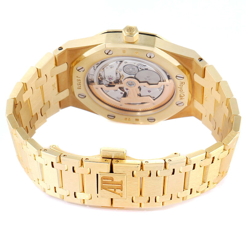 Audemars Piguet Royal Oak Yellow Gold Mens Watch 15202BA Box Papers SwissWatchExpo