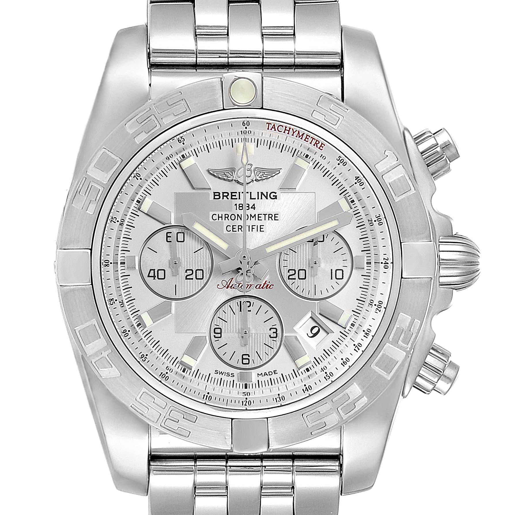 Breitling Chronomat 01 Dial Steel Mens Watch AB0110 Box Papers