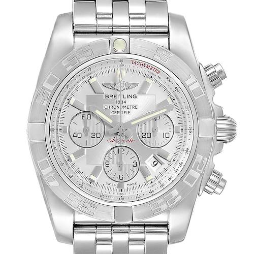 Photo of Breitling Chronomat 01 Silver Dial Steel Mens Watch AB0110 Box Papers