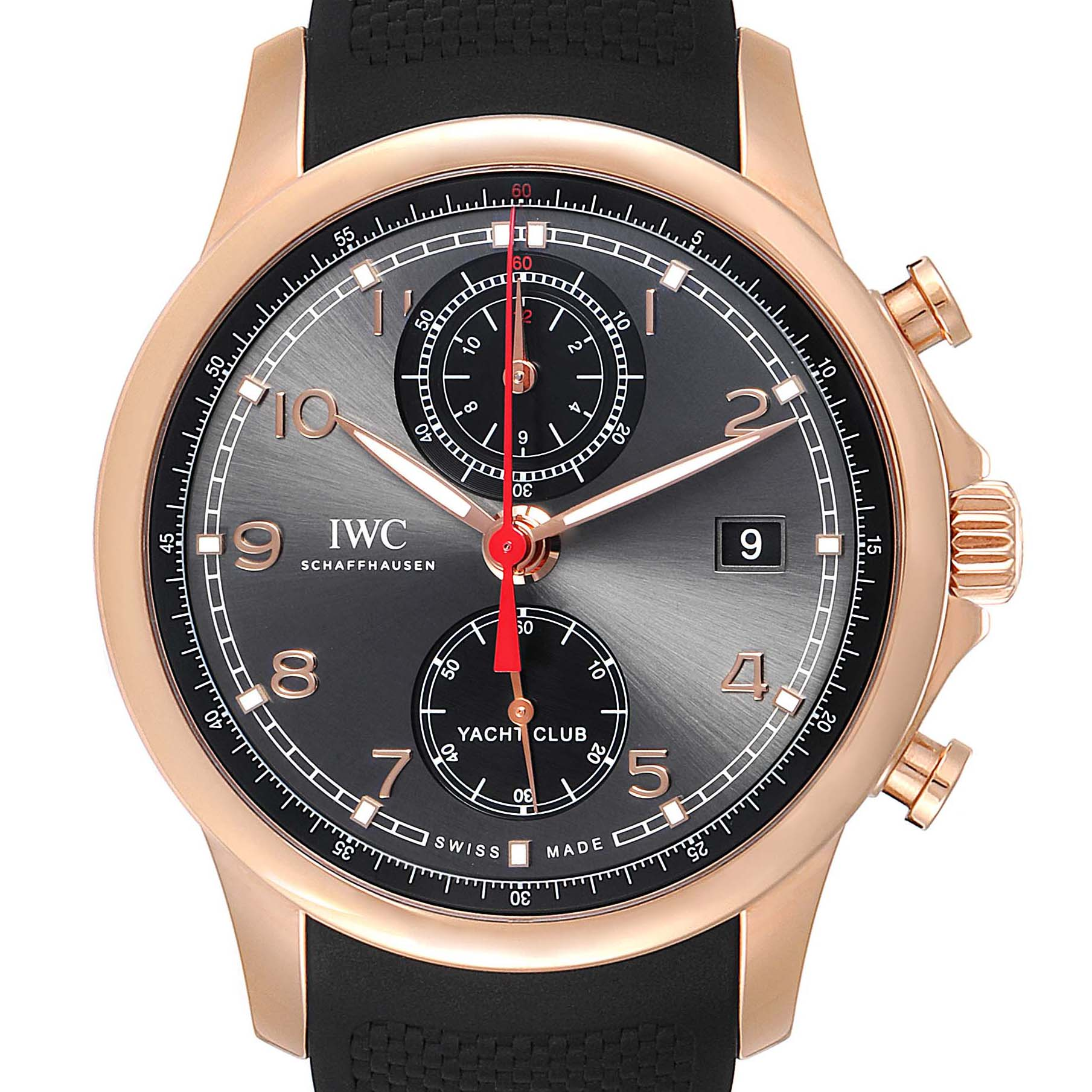 Photo of IWC Portuguese Yacht Club Rose Gold Chronograph Watch IW390209 Box Papers