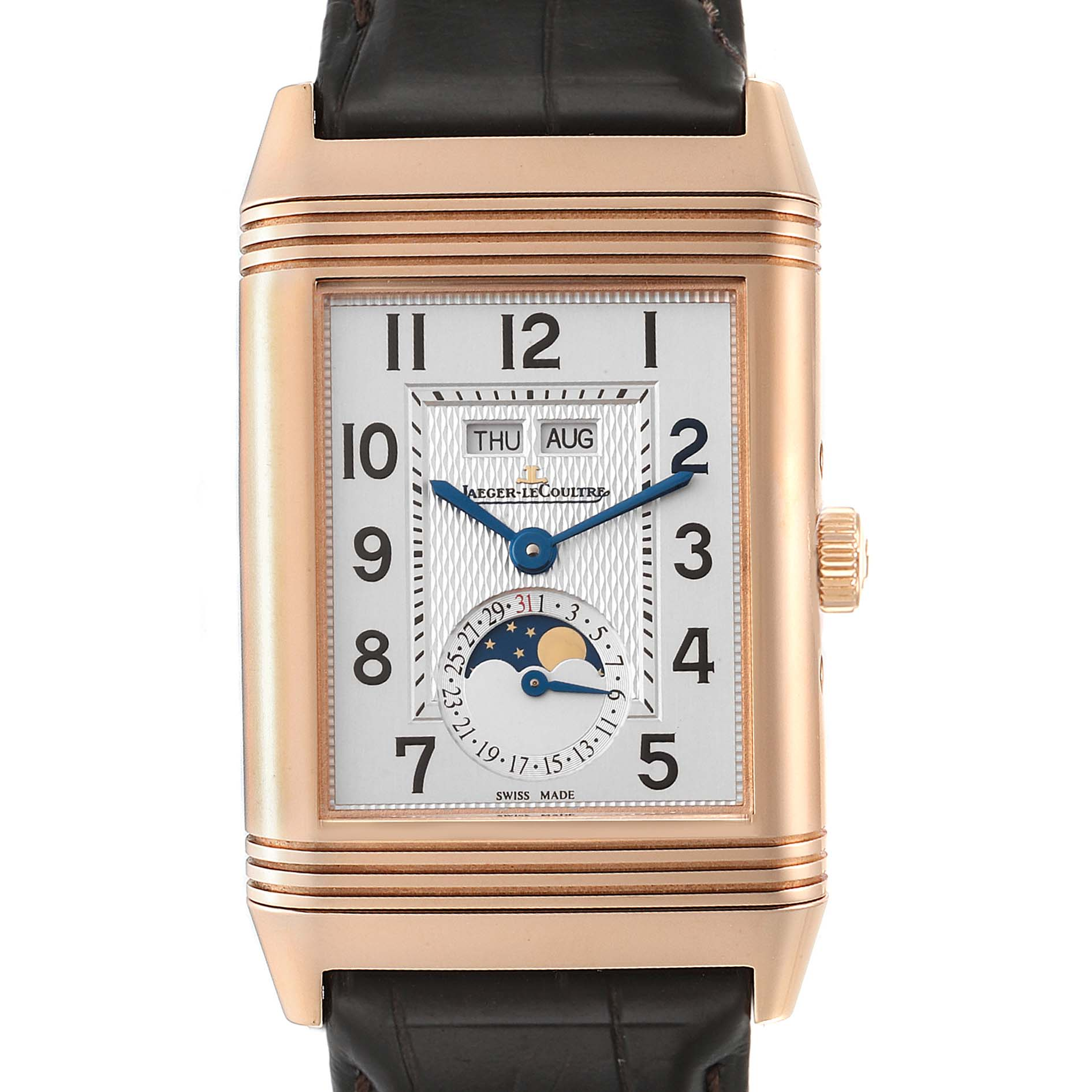 Photo of Jaeger LeCoultre Grande Reverso Calendar Moonphase Rose Gold Watch Q3752520