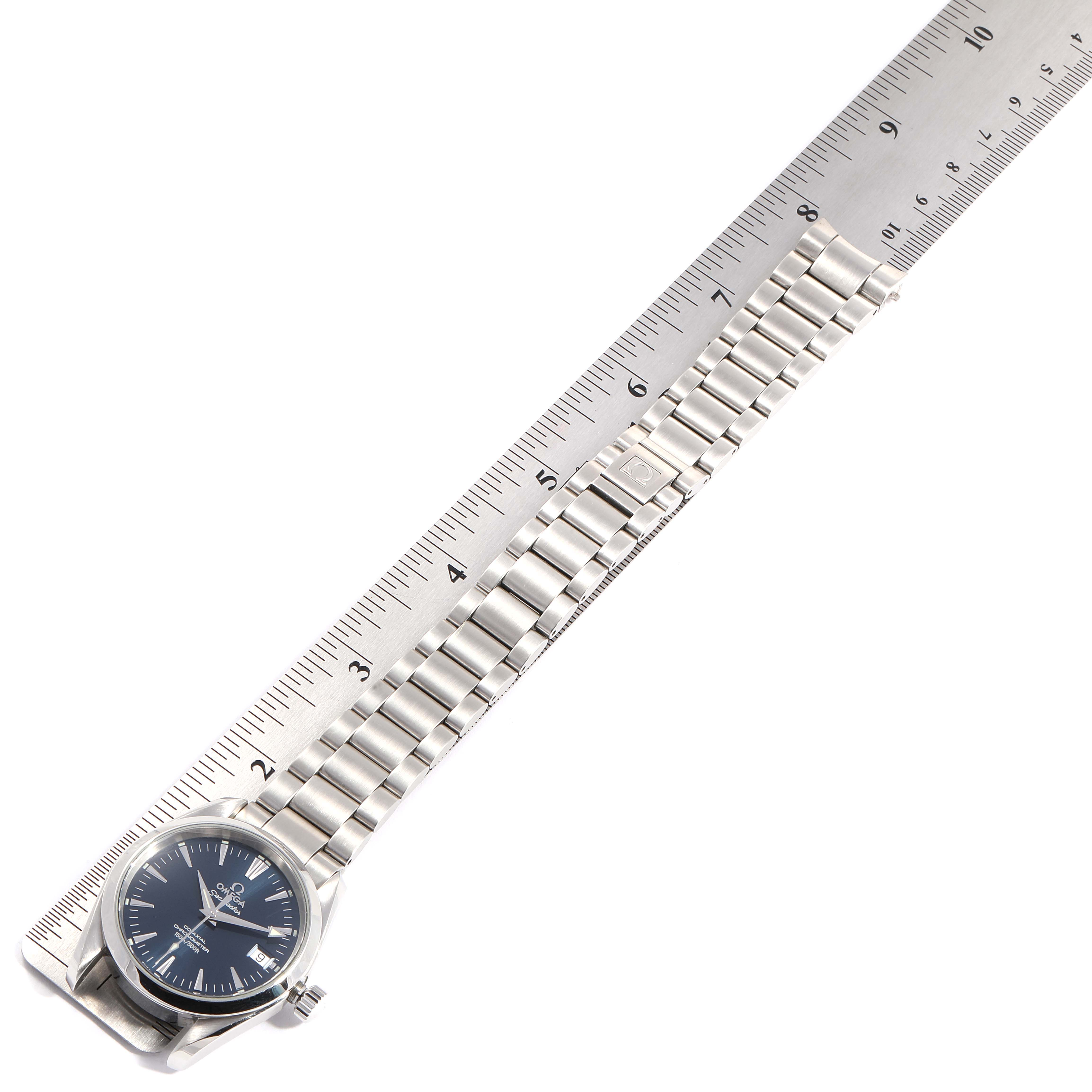Omega Seamaster Aqua Terra 36 Blue Dial Steel Watch 2504.80.00 Box Card SwissWatchExpo