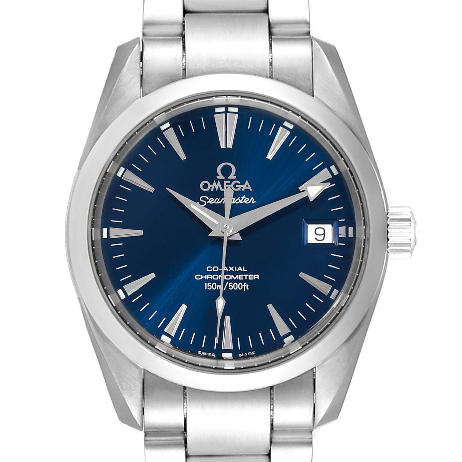 Omega Seamaster Aqua Terra 36 Blue Dial Steel Watch 2504.80.00 Box Card