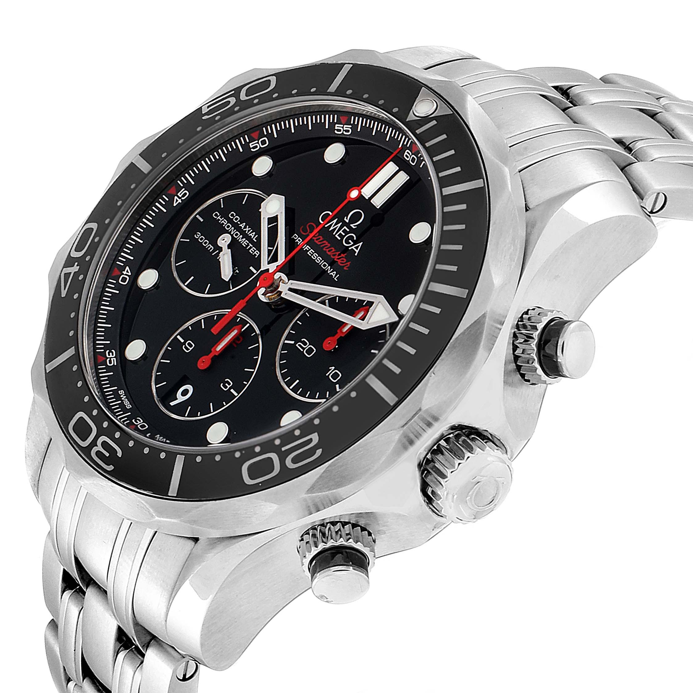 Omega Seamaster Diver 300M Co-Axial Steel Mens Watch 212 ...