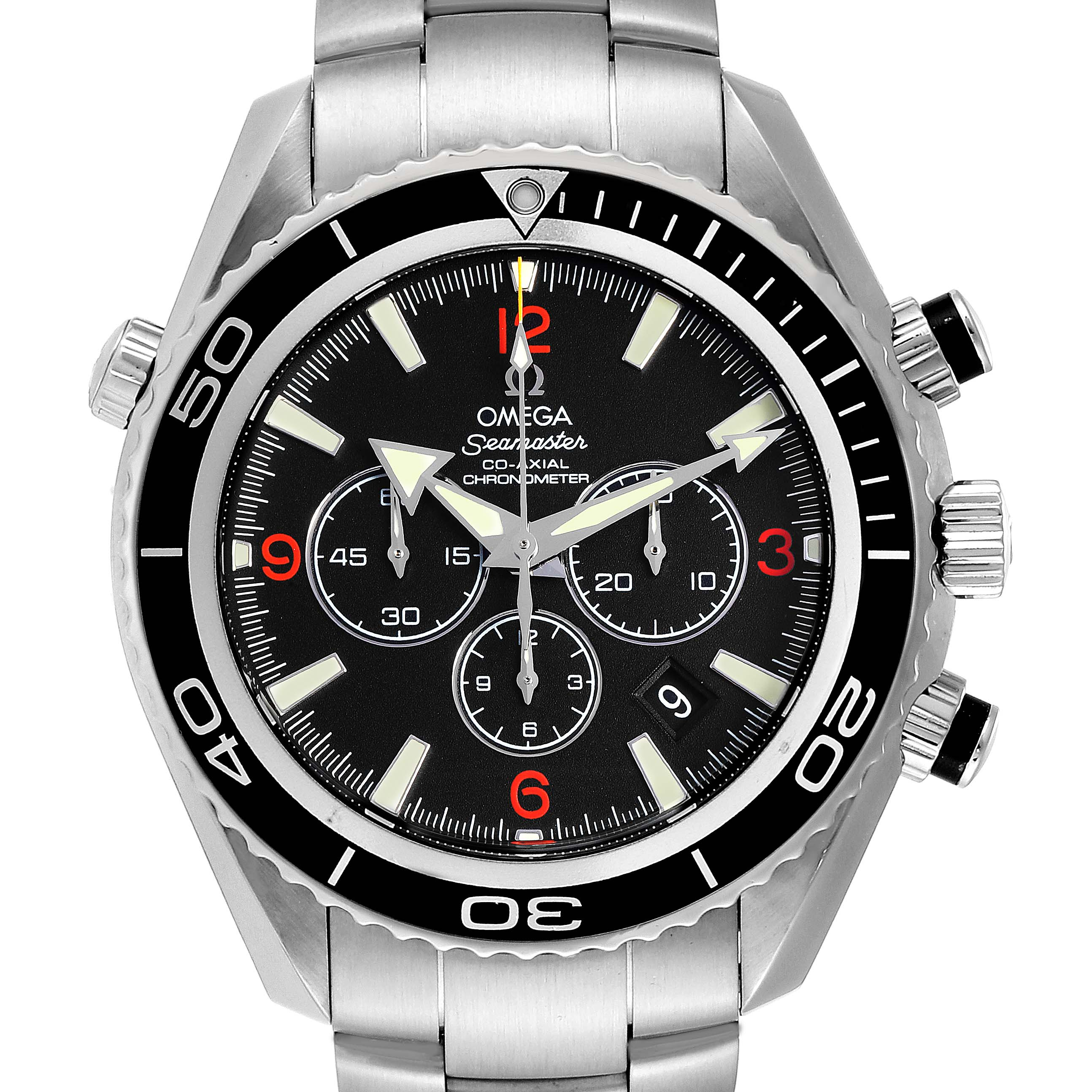 Omega Seamaster Planet Ocean Chronograph 45.5 mm Mens Watch 2210.51.00