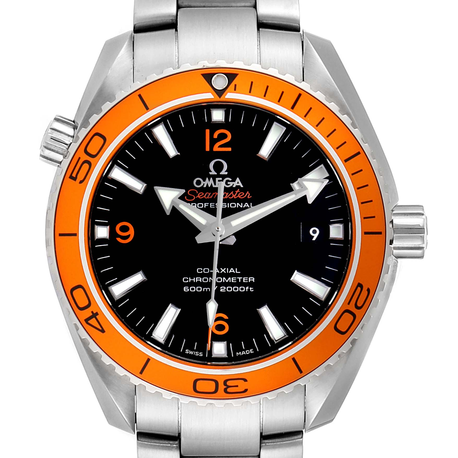 Omega Seamaster Planet Ocean Orange Bezel Watch 232.30.42.21.01.002