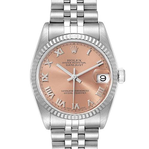 Photo of Rolex Datejust Midsize Steel White Gold Salmon Dial Ladies Watch 78274