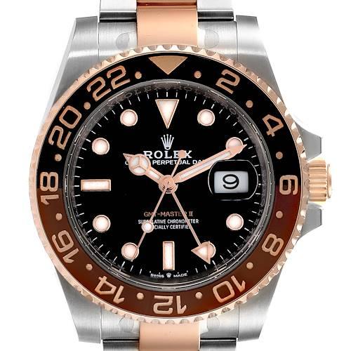 Photo of Rolex GMT Master II Steel Everose Gold Mens Watch 126711 Card