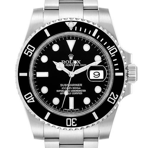 Photo of Rolex Submariner Ceramic Bezel Black Dial Steel Mens Watch 116610