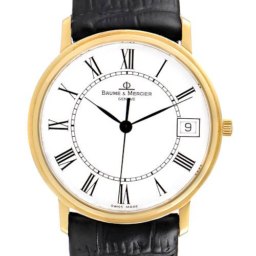 Photo of Baume Mercier Classima Ultra Thin 18K Yellow Gold Quartz Watch MV045093