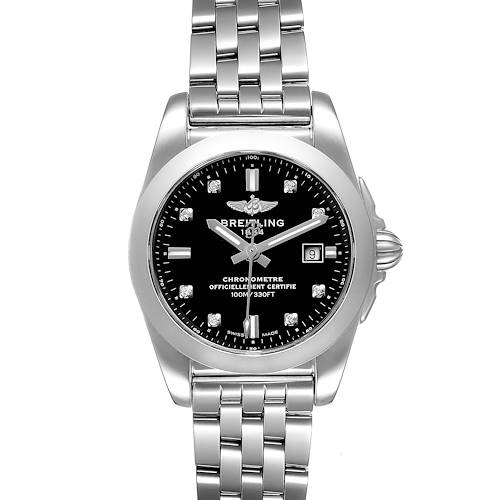 Photo of Breitling Galactic 29 Diamond Dial Steel Ladies Watch W72348 Box Papers