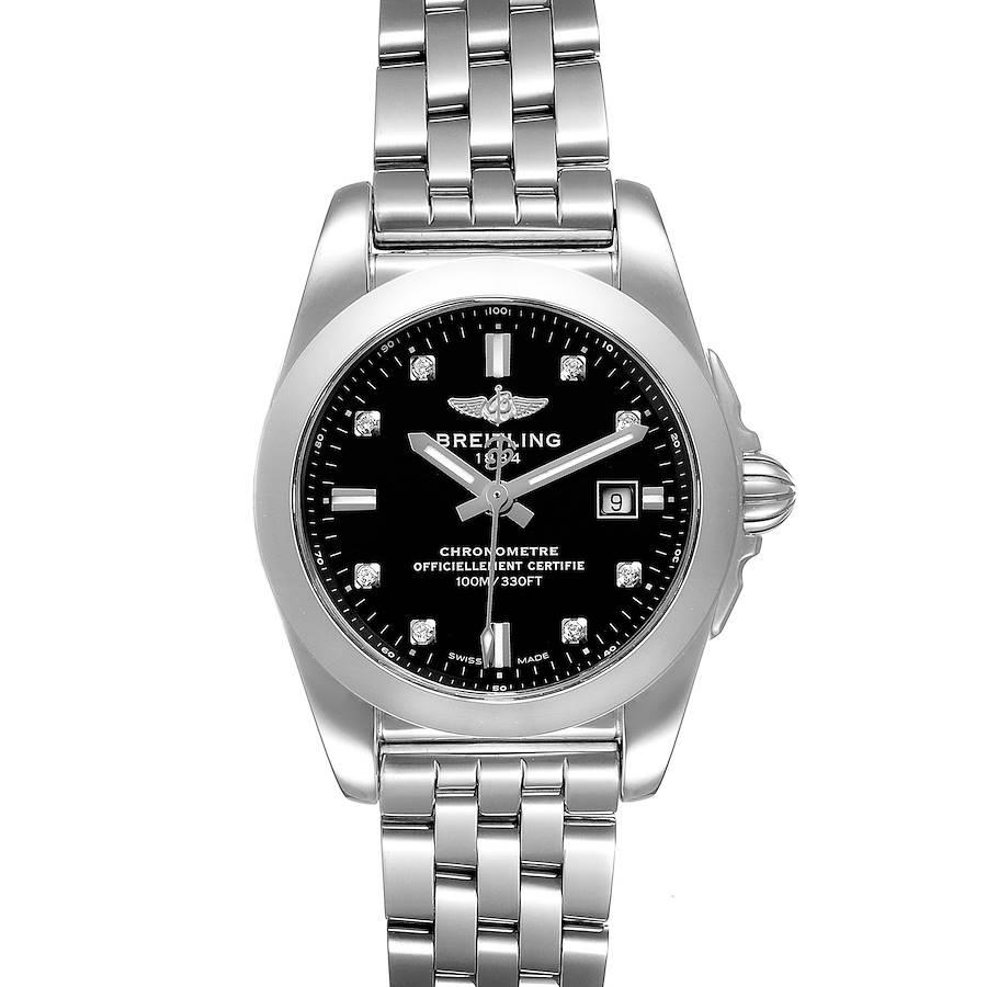 Breitling Galactic 29 Diamond Dial Steel Ladies Watch W72348 Box Papers SwissWatchExpo
