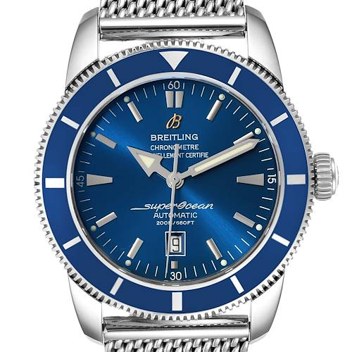 Photo of Breitling Superocean Heritage 46 Mesh Bracelet Watch A17320 Box Papers