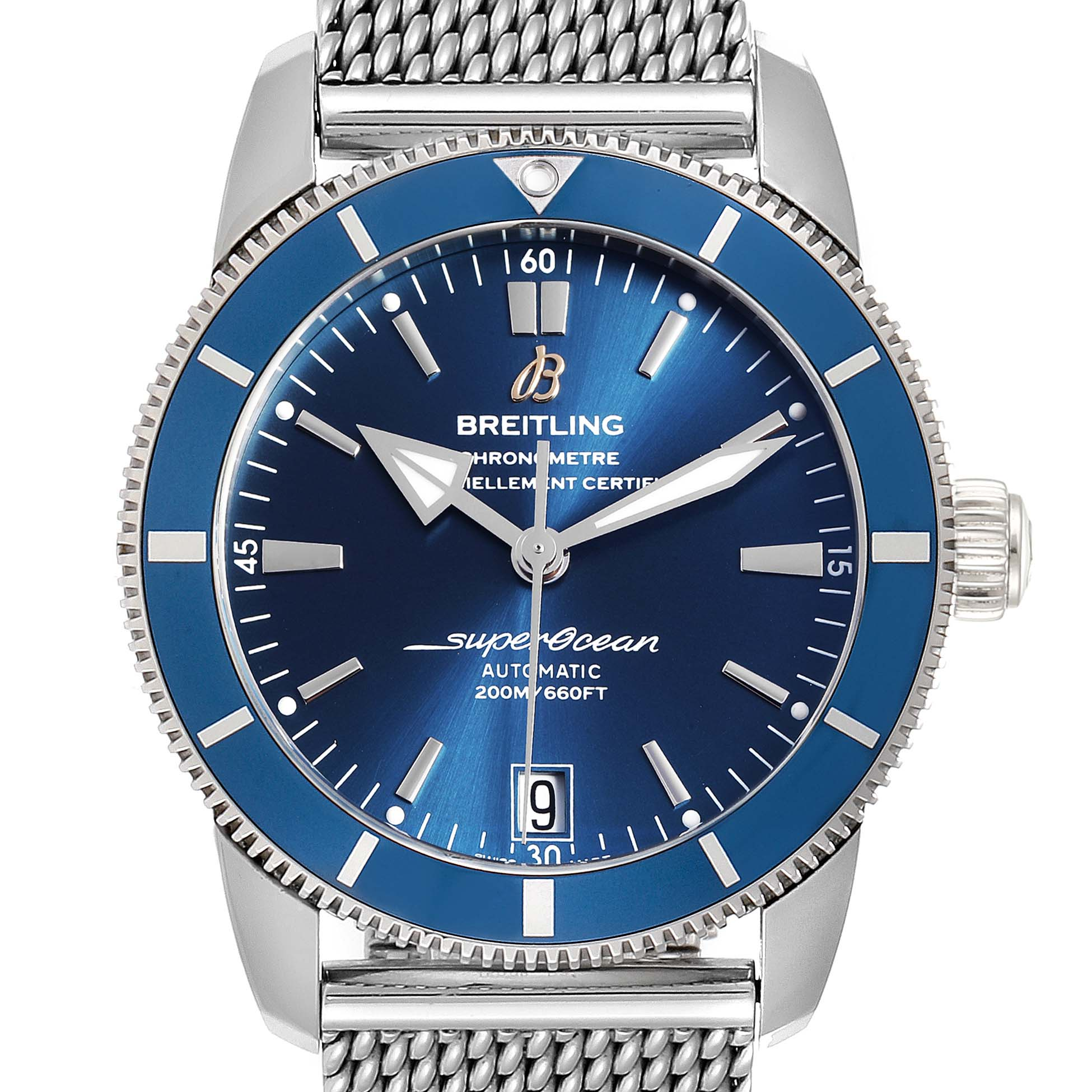 Breitling Superocean Heritage II 42 Steel Mens Watch AB2010 Box Papers