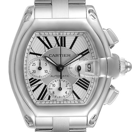 Photo of Cartier Roadster XL Chronograph Automatic Mens Watch W62019X6 Box Papers