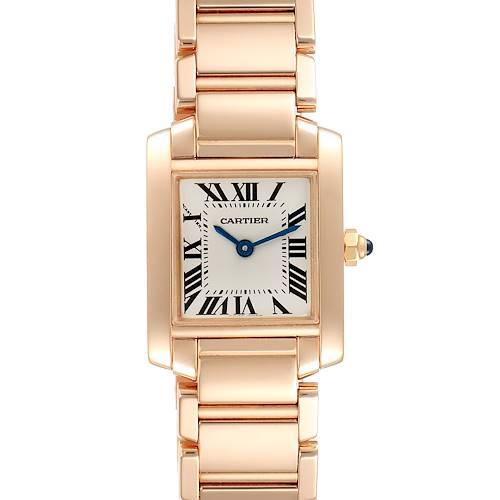 Cartier Tank Francaise Rose Gold Quartz Ladies Watch 2793