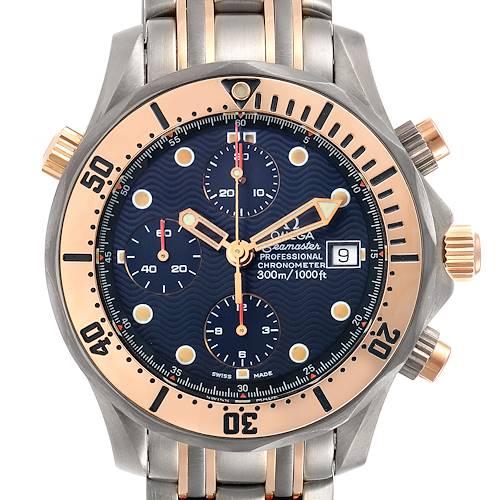 Photo of Omega Seamaster 41mm Titanium 18K Rose Gold Mens Watch 2296.80.00 Card