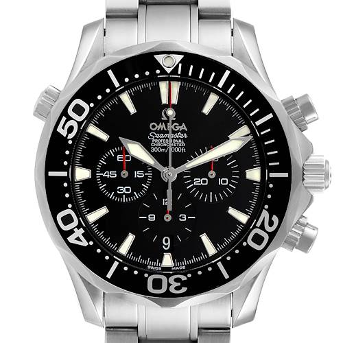 Photo of Omega Seamaster Chronograph Black Dial Steel Mens Watch 2594.52.00 Card