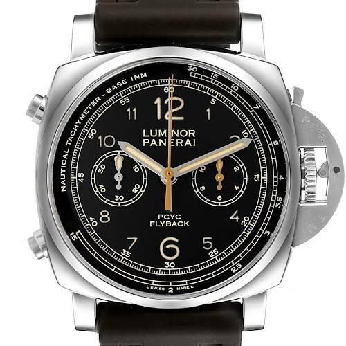 Photo of Panerai Luminor 1950 Flyback Chronograph Steel Watch PAM00653 Box Card