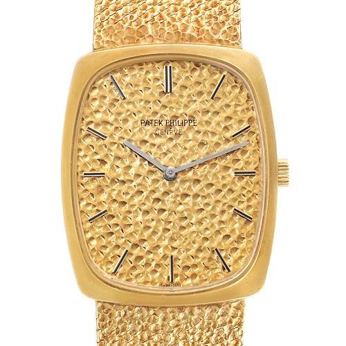 Photo of Patek Philippe Ellipse 18k Yellow Gold Vintage Mens Watch 3567