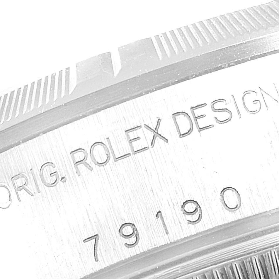 Rolex Date White Dial Oyster Bracelet Steel Ladies Watch 79190 SwissWatchExpo