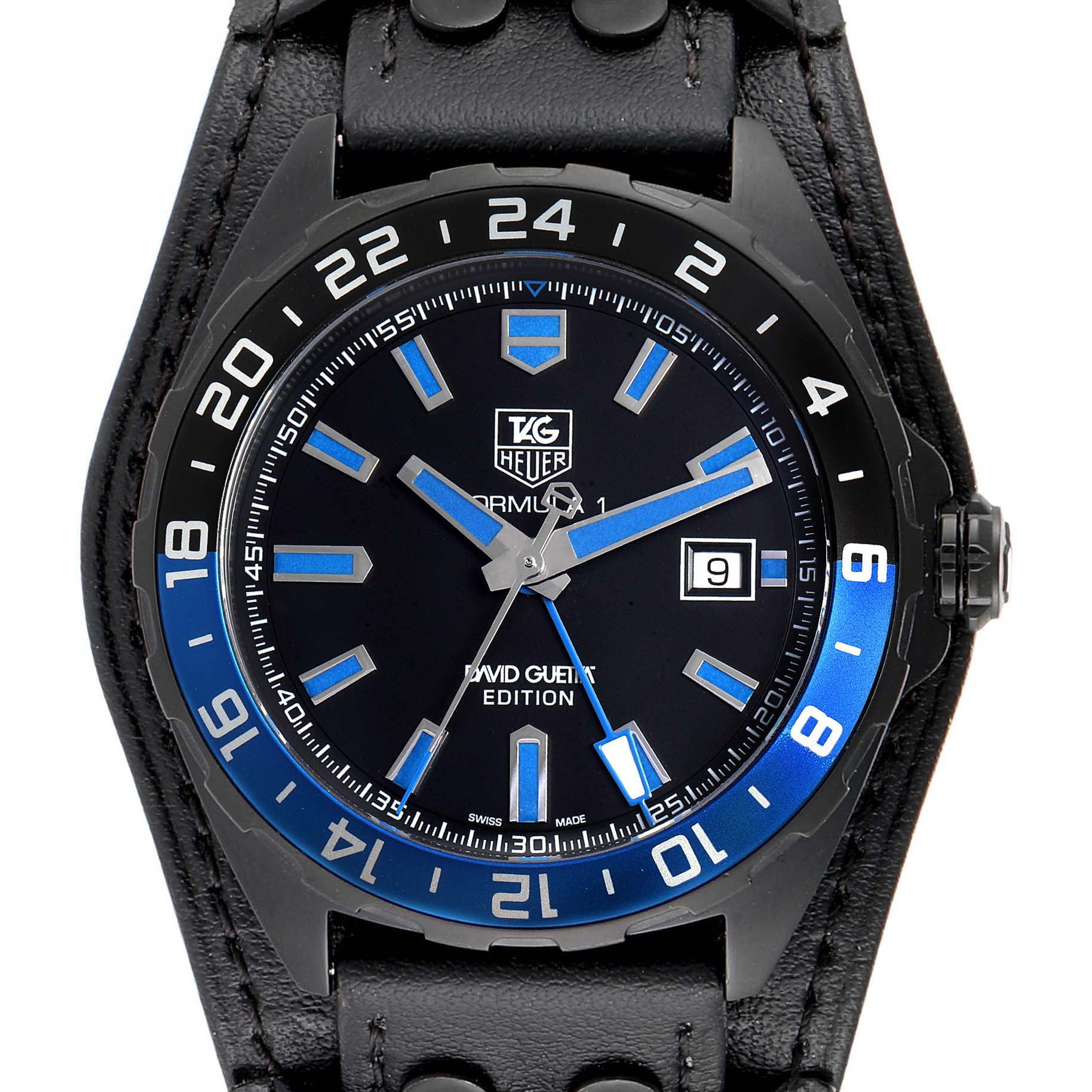 Photo of Tag Heuer Formula 1 GMT David Guetta Titanium PVD Batman Watch WAZ201A