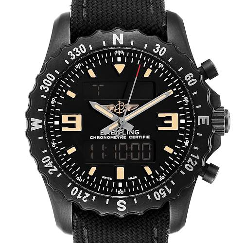 Photo of Breitling Chronospace Military GMT Alarm Blacksteel Mens Watch M78366