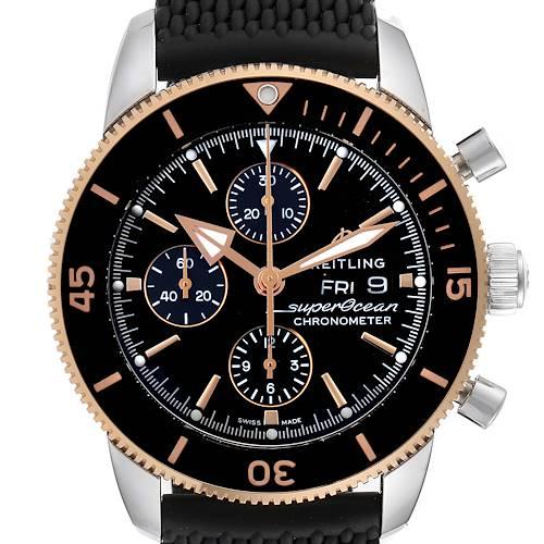 Photo of Breitling Superocean Heritage II Steel Rose Gold Watch U13313 Box Card