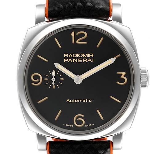Photo of Panerai Radiomir Black Dial 3 Days 42mm Steel Mens Watch PAM00620 Papers