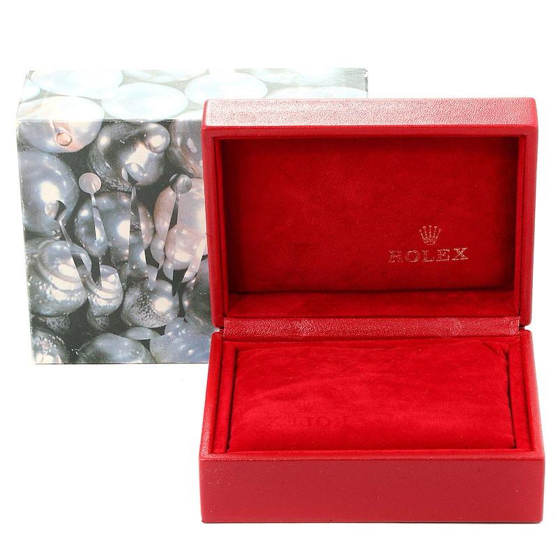 Rolex Datejust 26 Steel White Gold Black Dial Ladies Watch 79174 SwissWatchExpo