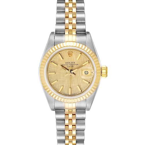 Photo of Rolex Datejust 26 Steel Yellow Gold Linen Dial Ladies Watch 69173