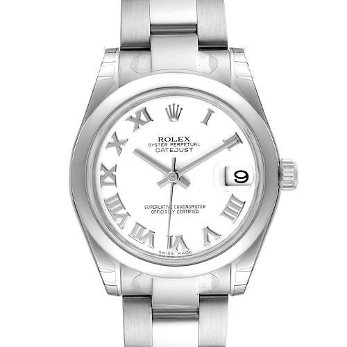 Photo of Rolex Midsize 31 Datejust White Dial Steel Ladies Watch 178240 Unworn