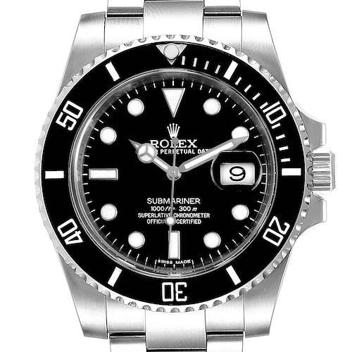 Photo of Rolex Submariner 40 Cerachrom Bezel Black Dial Watch 116610 Box Card