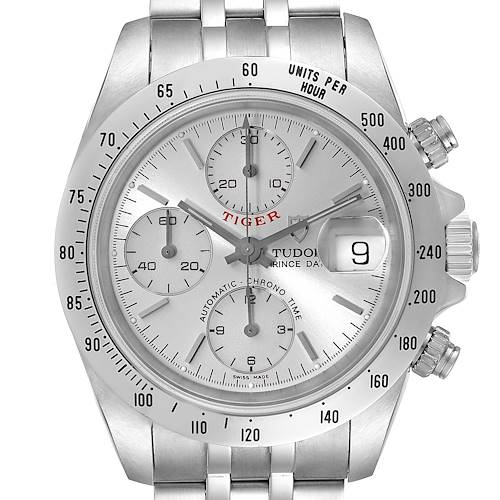 Photo of Tudor Prince Silver Dial Chronograph Steel Mens Watch 79280 Box Papers