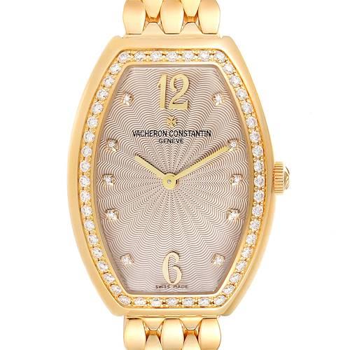 Photo of Vacheron Constantin Egerie Rose Gold Diamond Ladies Watch 25540 Box Papers