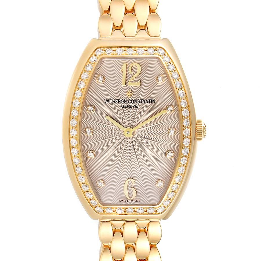 Vacheron Constantin Egerie Rose Gold Diamond Ladies Watch 25540 Box Papers SwissWatchExpo