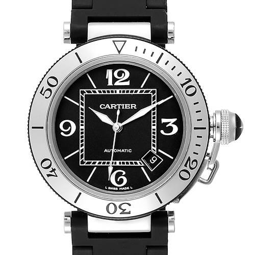 Photo of Cartier Pasha Seatimer Rubber Strap Watch W31088U2 Box