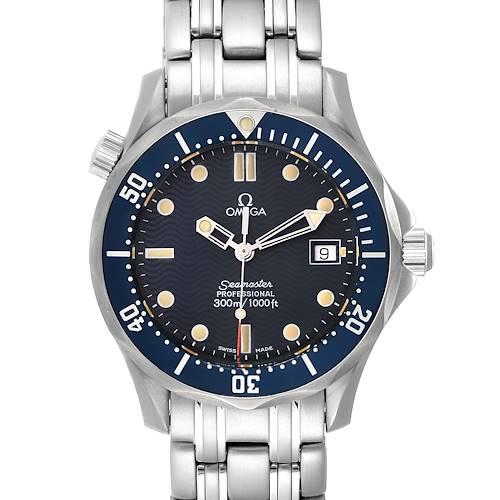 Photo of Omega Seamaster James Bond 36 Midsize Blue Wave Dial Watch 2561.80.00