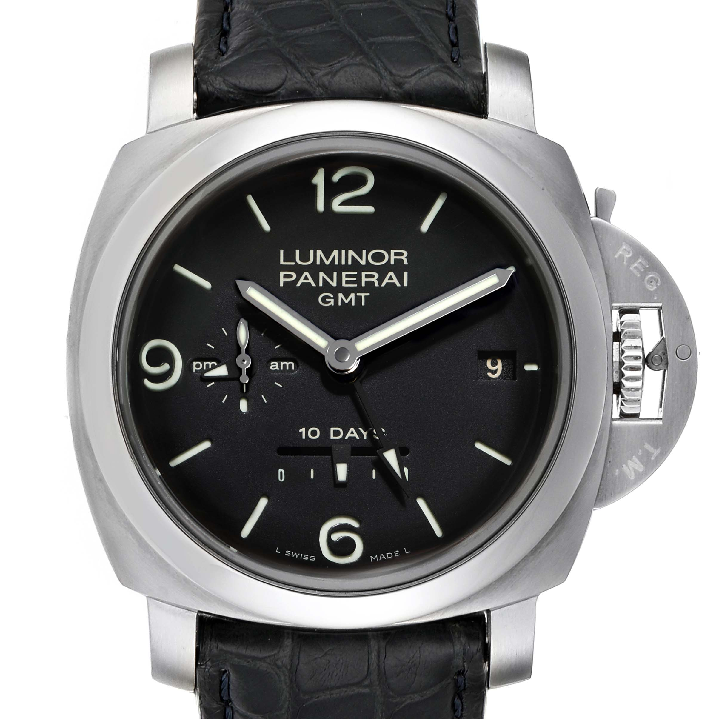 Panerai Luminor Marina 1950 10 Days GMT 44mm Watch PAM00270 Box Papers