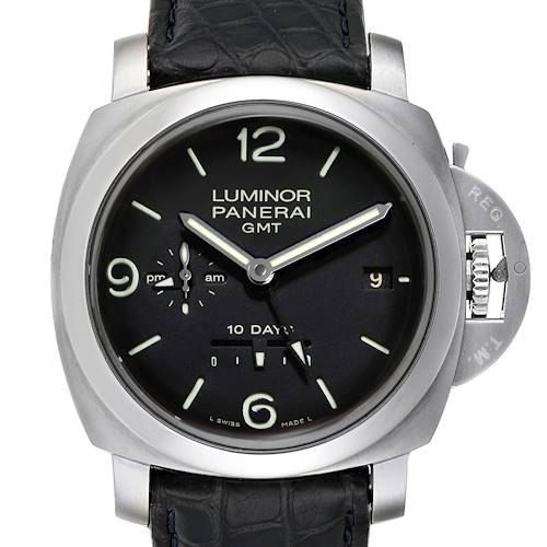 Photo of Panerai Luminor Marina 1950 10 Days GMT 44mm Watch PAM00270 Box Papers