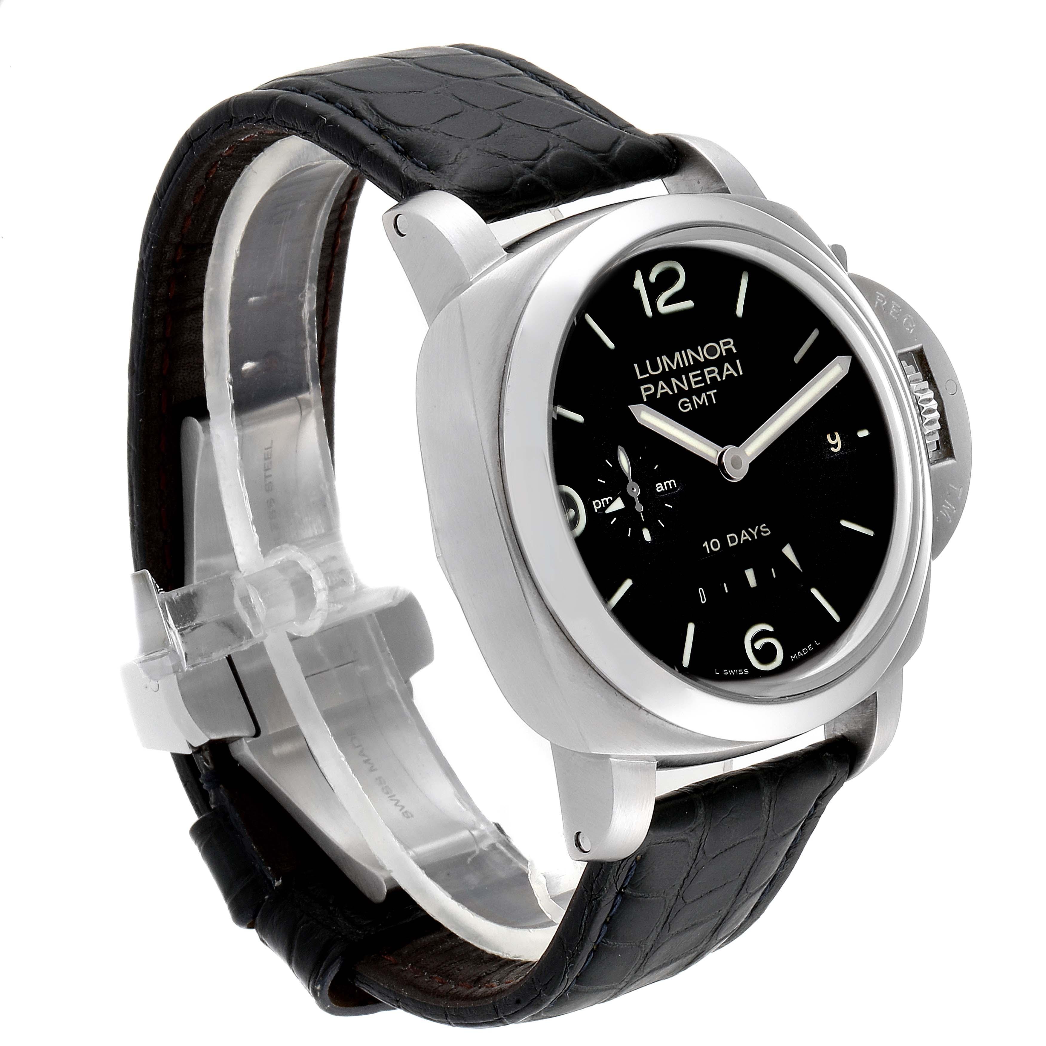 Panerai Luminor Marina 1950 10 Days GMT 44mm Watch PAM00270 Box Papers SwissWatchExpo