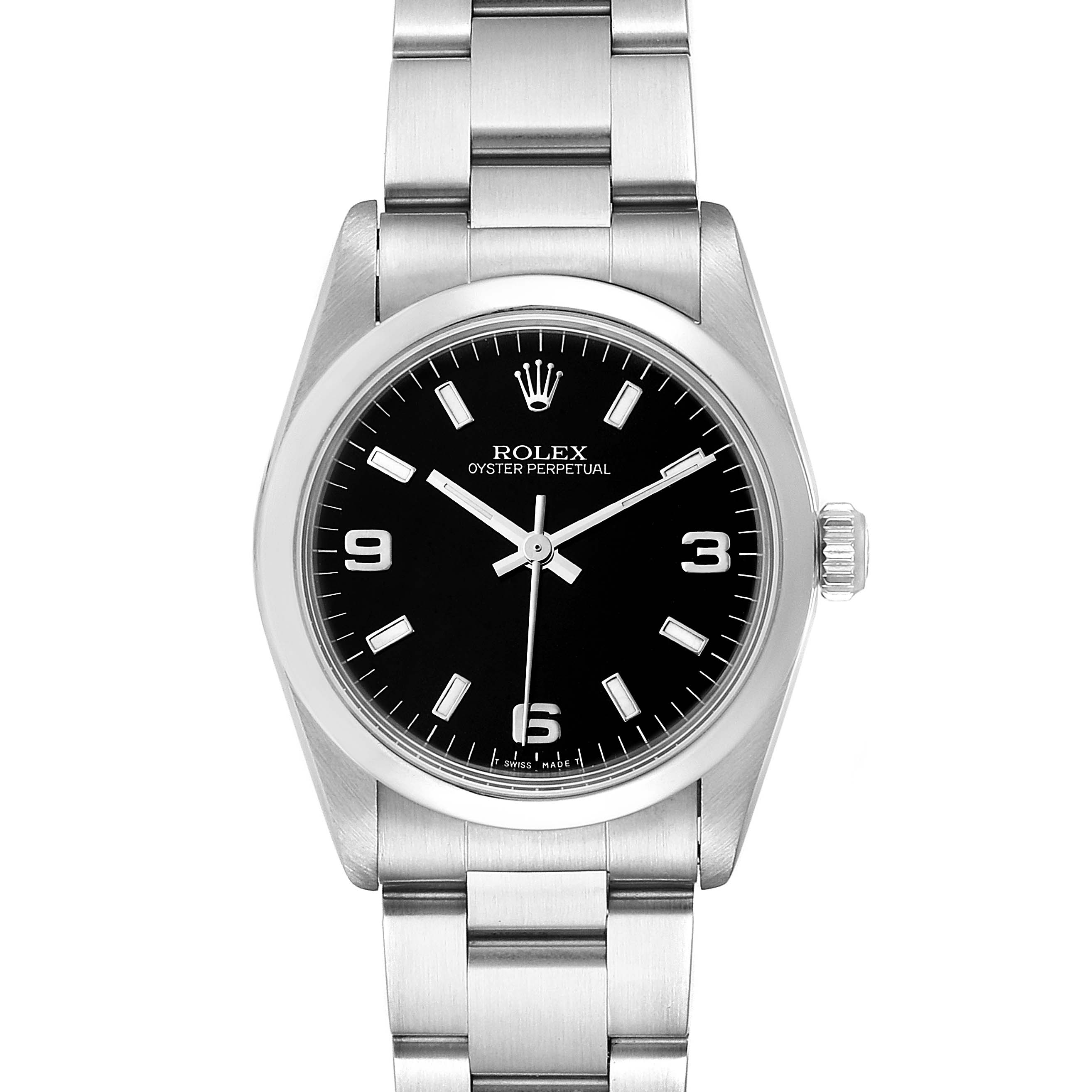Photo of Rolex Midsize 31mm Black Dial Automatic Steel Ladies Watch 67480