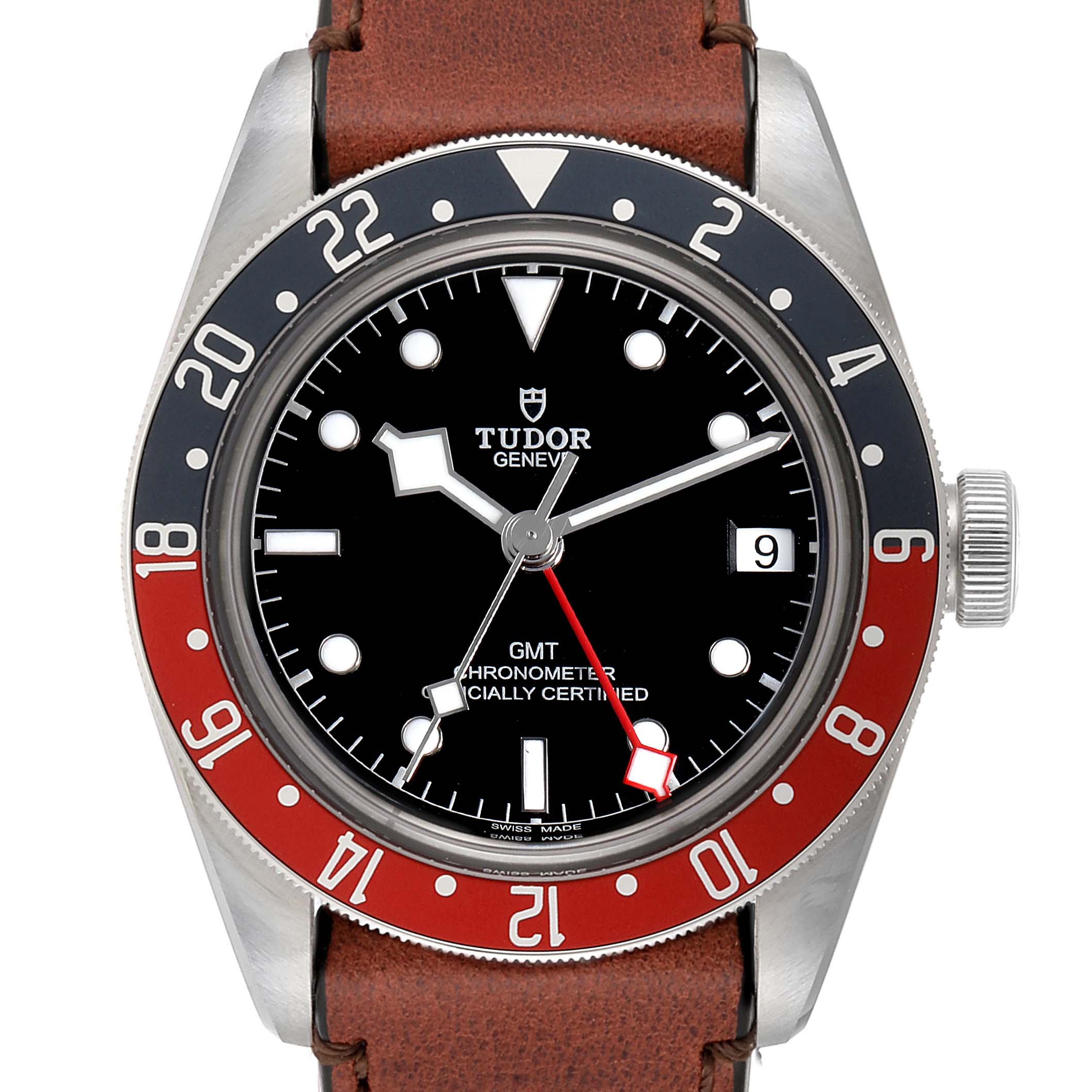 Tudor Heritage Black Bay GMT Pepsi Bezel Mens Watch 79830RB Unworn SwissWatchExpo